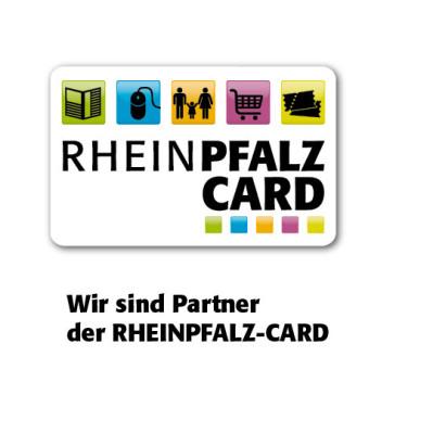 Bild der Rheinpfalz Card mit Rabatt Möglichkeit von 10 % auf den Grundbetrag
