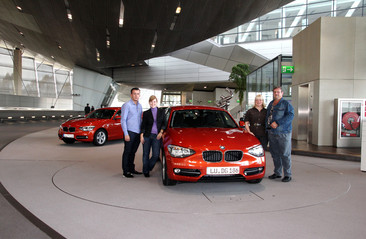 Bild von der Abholung des BMW in der BMW Welt München
